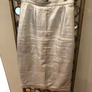 Vintage metallic pencil skirt